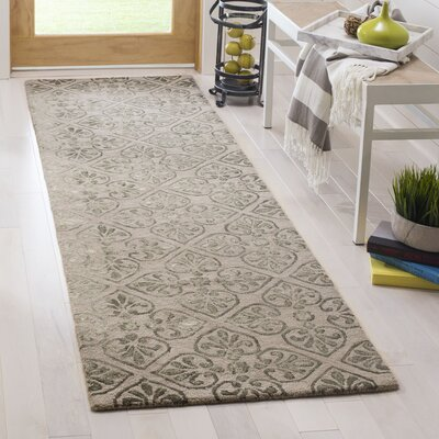 Edmeston Hand-Tufted Dark Beige Area Rug Rug Size: Runner 23 x 8