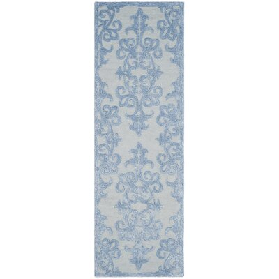 Dickinson Hand-Tufted Blue Area Rug Rug Size: Runner 2'3