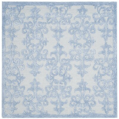 Dickinson Hand-Tufted Blue Area Rug Rug Size: Square 5'