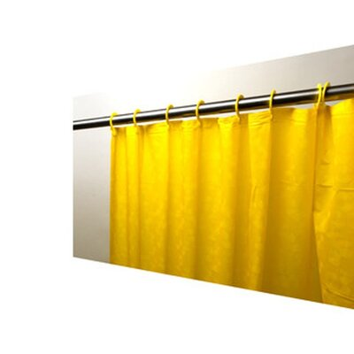 Caylee 10 Gauge Heavy Duty High Quality Shower Curtain Color: Bright Yellow