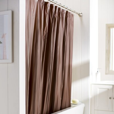 Caylee 10 Gauge Heavy Duty High Quality Shower Curtain Color: Brown