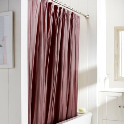 Caylee 10 Gauge Heavy Duty High Quality Shower Curtain Color: Burgundy