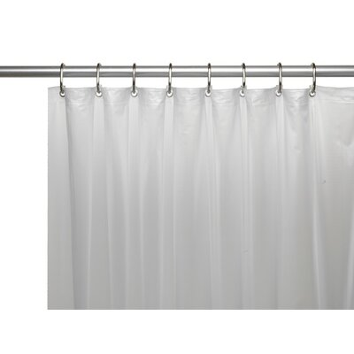 Caylee 10 Gauge Heavy Duty High Quality Shower Curtain Color: Frosted Clear