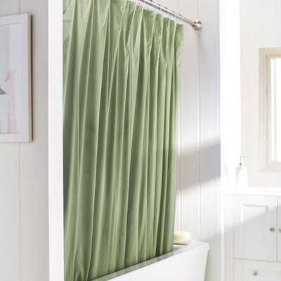 Caylee 10 Gauge Heavy Duty High Quality Shower Curtain Color: Sage