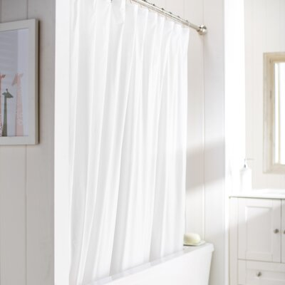 Caylee 10 Gauge Heavy Duty High Quality Shower Curtain Color: White