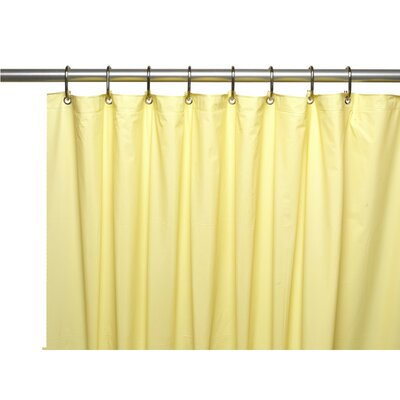 Caylee 10 Gauge Heavy Duty High Quality Shower Curtain Color: Yellow