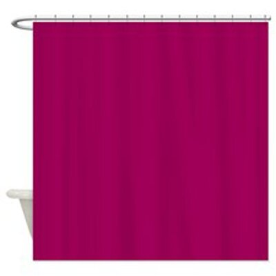 Caylee 10 Gauge Heavy Duty High Quality Shower Curtain Color: Magenta