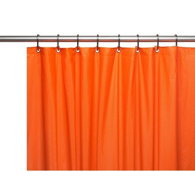 Caylee 10 Gauge Heavy Duty High Quality Shower Curtain Color: Orange