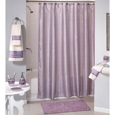 Caylee 10 Gauge Heavy Duty High Quality Shower Curtain Color: Purple