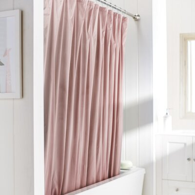 Caylee 10 Gauge Heavy Duty High Quality Shower Curtain Color: Rose