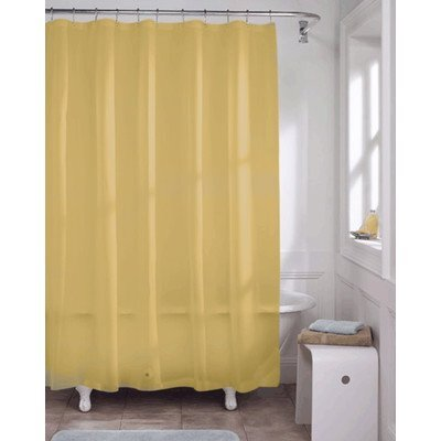 Caylee 10 Gauge Heavy Duty High Quality Shower Curtain Color: Golden