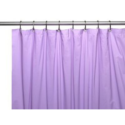 Caylee 10 Gauge Heavy Duty High Quality Shower Curtain Color: Lilac