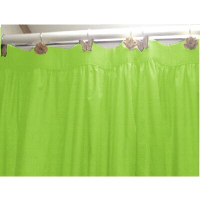 Caylee 10 Gauge Heavy Duty High Quality Shower Curtain Color: Lime