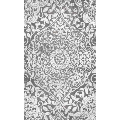 Aldora Gray Area Rug Rug Size: Rectangle 76 x 96