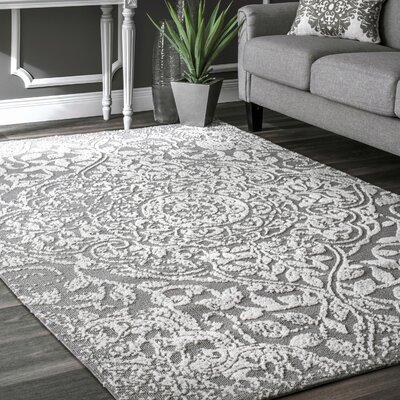 Aldora Gray Area Rug Rug Size: Rectangle 4 x 6