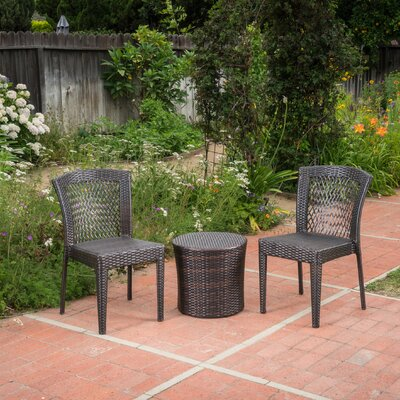 Harrisburg Outdoor Wicker 3 Piece Lounge Seating Group