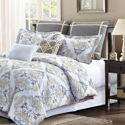 Zoe 7 Piece Comforter Set Size: King