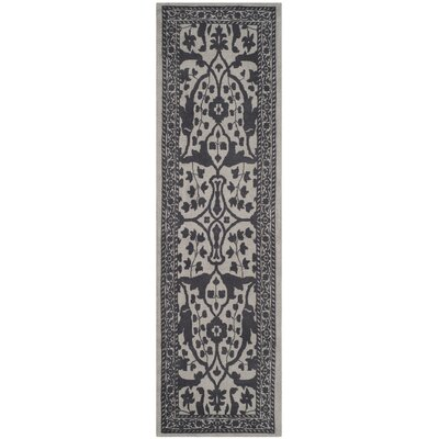 Ellicottville Hand-Tufted Silver/Gray Area Rug Rug Size: Runner 23 x 8