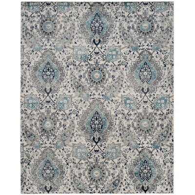 Matelles Cream/Light Gray Area Rug Rug Size: Rectangle 8 x 10