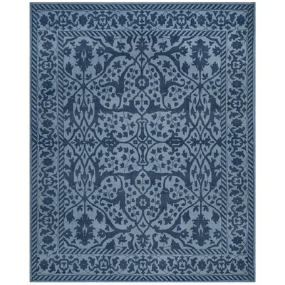 Ellicottville Hand-Tufted Navy Area Rug Rug Size: Rectangle 8 x 10