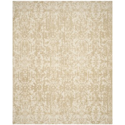 Ellicottville Hand-Tufted Ivory/Sand Area Rug Rug Size: Rectangle 8 x 10