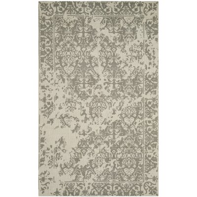 Ellicottville Hand-Tufted Brown/Cream Area Rug Rug Size: Rectangle 5 x 8