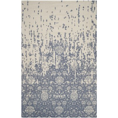 Ellicottville Hand-Tufted Ivory/Blue Area Rug Rug Size: Rectangle 5 x 8