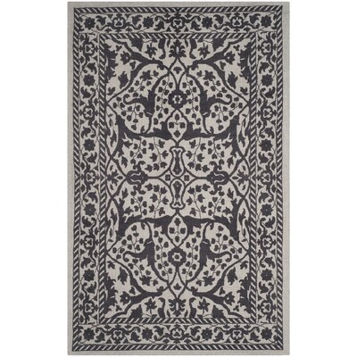 Ellicottville Hand-Tufted Silver/Gray Area Rug Rug Size: Rectangle 5 x 8
