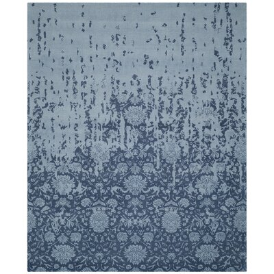 Ellicottville Hand-Tufted Blue Wool Area Rug Rug Size: Rectangle 8 x 10