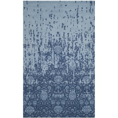 Ellicottville Hand-Tufted Blue Wool Area Rug Rug Size: Rectangle 5 x 8