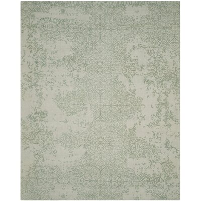 Ellicottville Hand-Tufted Gray/Turquoise Area Rug Rug Size: Rectangle 8 x 10