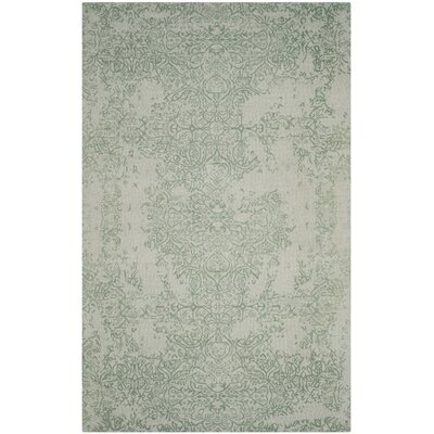Ellicottville Hand-Tufted Gray/Turquoise Area Rug Rug Size: Rectangle 5 x 8