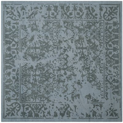 Ellicottville Hand-Tufted Blue Area Rug Rug Size: Square 6