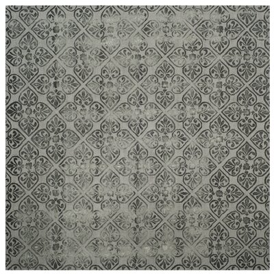 Edmeston Hand-Tufted Gray Wool Area Rug Rug Size: Square 7