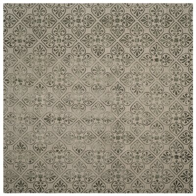 Edmeston Hand-Tufted Dark Beige Area Rug Rug Size: Square 7