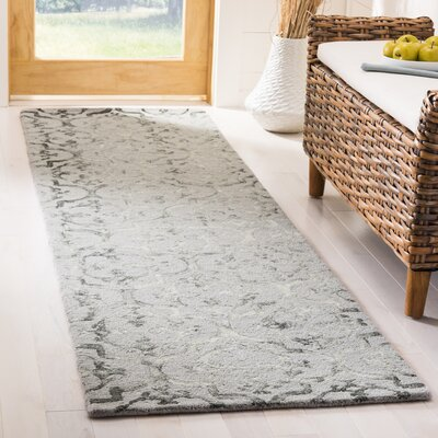 Edmeston Hand-Tufted Gray Area Rug Rug Size: Runner 23 x 8