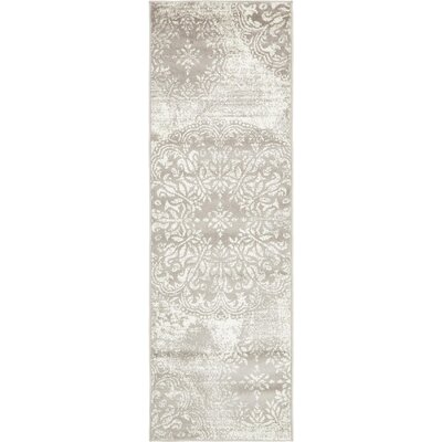 Brandt Light Gray Area Rug Rug Size: Runner 2 x 13
