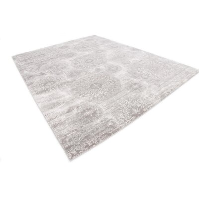 Argyle Light Gray Area Rug Rug Size: Rectangle 8 x 10