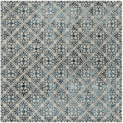 Edmeston Hand-Tufted Gray/Charcoal Area Rug Rug Size: Square 7