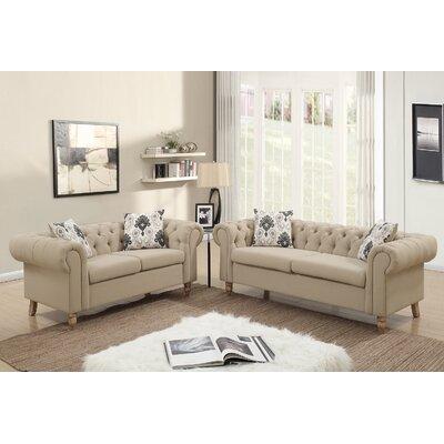 Garett 2 Piece Living Room Set Upholstery: Sand