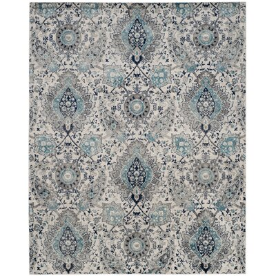 Grieve Cream/Light Gray Area Rug Rug Size: Rectangle 11 X 15