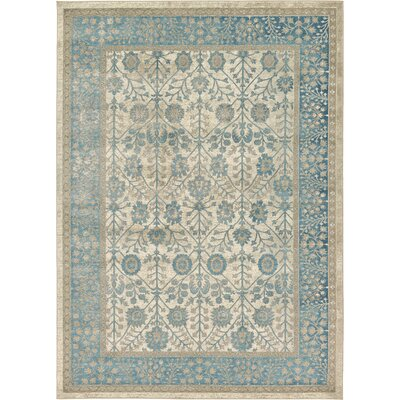 Kerensa�Cream Area Rug Rug Size: Rectangle 7 x 10