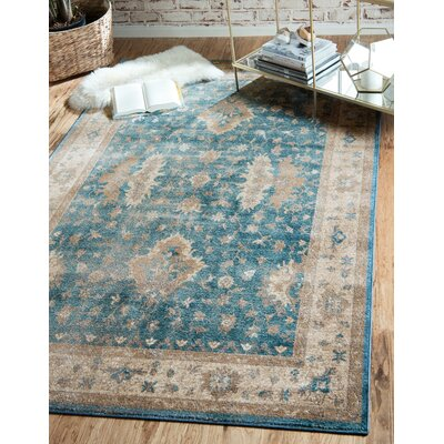 Kerensa�Light Blue Area Rug Rug Size: Runner 27 x 10