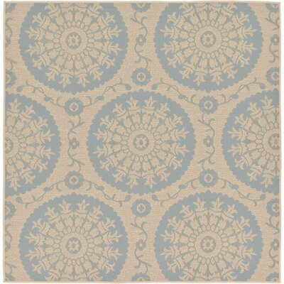 Keough Beige Outdoor Area Rug Rug Size: Square 6
