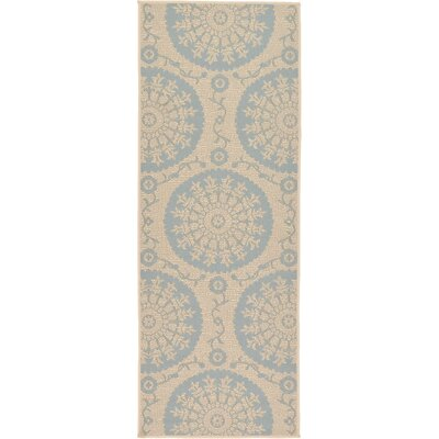 Keough Beige Outdoor Area Rug Rug Size: Runner 22 x 6