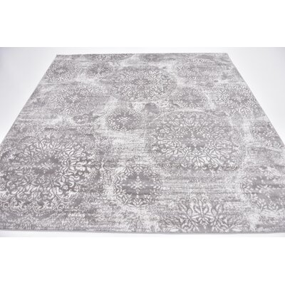 Brandt Light Gray Area Rug Rug Size: Square 8