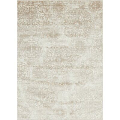 Brandt Beige Area Rug Rug Size: Rectangle 7 x 10