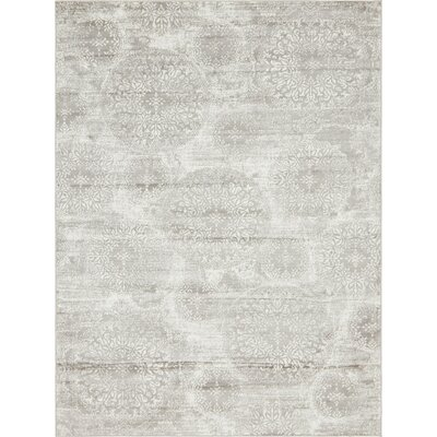 Brandt Light Gray Area Rug Rug Size: Rectangle 8 x 11