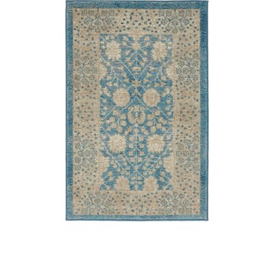 Kerensa�Light Blue Area Rug Rug Size: Rectangle 2 x 3