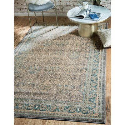 Kerensa�Gray Area Rug Rug Size: Rectangle 33 x 53
